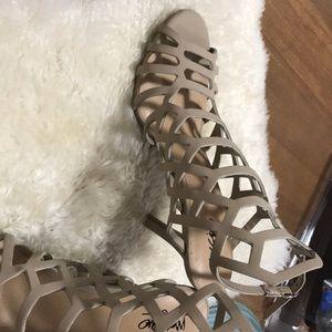 Nude Mossimo high heels